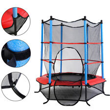 55 Round Mini Trampoline for Kids Children Exercise Safety Jumping Enclosure