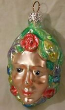PATRICIA BREEN CHRISTMAS ORNAMENT 9707 BREATH OF SPRING FLOWER FACE 3.25