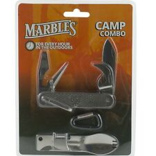 Marbles Stainless GI Utility Pocket Knife & Camper Multi Tool Spork Can Opener