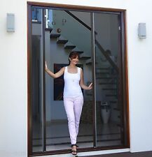 Retractable Door Fly Screen White Brown Flyscreen suits Houses Boats Caravans