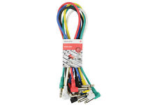 6x Patch Leads For Guitar Effects Pedals 0.50m Multi Colour - Free Delivery