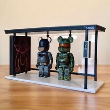 *AUTHENTIC* Medicom x KAWS Bearbrick Bus Stop Kubrick Figure Display Urban Art