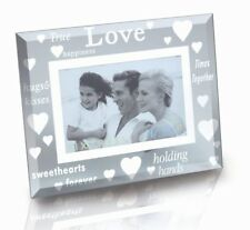 Sixtrees Moments Bevelled Glass and Mirror 'LOVE' 6 x 4 inch Photo Frame