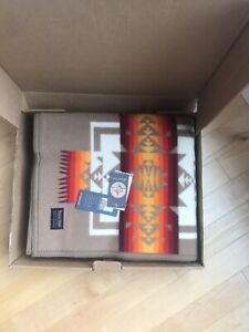 "New In Box Chief Joseph Pendleton Beaver State Wool Blanket Khaki 64"" X 80"""