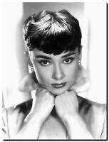 Audrey Hepburn CANVAS PRINT Photo portrait  Art poster A3
