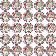 50 Pegatinas de Navidad Vinilo Impreso Color Redondo, Ideal Para Regalos, Tarjetas, Etc