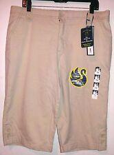 Gloria Vanderbilt  The Perfect Fit  Capris  size 16 stretch NWT beige