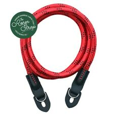 RED WITH BLACK DOTTED HANDMADE NYLON ROPE CAMERA SHOULDER NECK STRAP