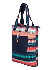 Roxy Day Sailor Canvas Tote Bag Beach Purse Bag NWT Blue Teal Coral Shoulder