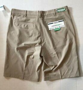 IZOD Men's Swingflex Golf Shorts $30 OFF Size 36 Slim Fit Beige MSRP $60.00 NEW