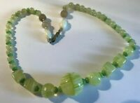 Vintage Art Deco Czech Uranium Glass Necklace