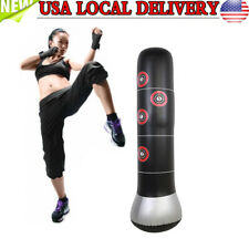 Inflatable Boxing Punching Kick Training Tumbler Bop Bag with Air Inflator Pump