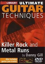 LICK LIBRARY Ultimate Guitar Techniques 40 KILLER ROCK & METAL RUNS Video DVD