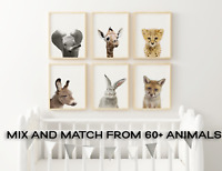 Baby Nursery Wall Art Baby Animal Safari Prints Animal Nursery Decor Nursery A4