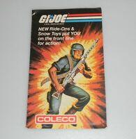 Lot 1983 GI Joe Cobra Coleco Catalog Insert Kids Ride Ons Snow Toys Power Cycle