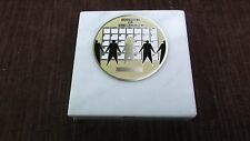 employee of the month paperweight marble award metal insert personalized