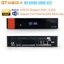 Gtmedia V8 Nova Dvb-s2 Digital Satellite Receiver Support PowerVu Biss Key H.265