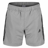adidas ESSENTIALS 3 STRIPE CHELSEA SHORTS GYM FITNESS RUNNING GREY HOLIDAYS