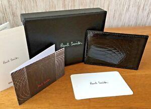 Paul Smith Cuir Noir Porte-Cartes NO.9 Collection Détail Neuf en Boîte