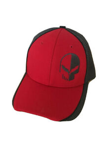 C7R Jake Corvette Racing Trackside Hat Red/Gray Adjustable Velcro Buds Chevrolet