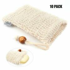 10pcs Soap Bags Natural Sisal Soap Net Organic Soap Massage Net 9*14cm