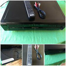 Sony CDP-CE535 5 Disc CD Player Changer Remote Control Cables Basic Instructions