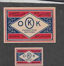 Ancienne étiquette Allumettes  Belgique BN2002 OKK 1
