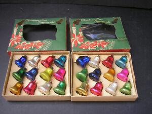 Vintage Miniature Christmas Tree Ornaments (2 boxes) Bells