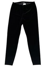 Eileen Fisher Nwt Less by Design Black Velvet Ankle Legging Leggings Pants PS PP