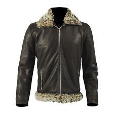 Genuine cowhide Finest kashmira article jacket cat fur collared warm coat for me