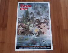 ORIGINAL MOVIE POSTER THE HORROR SHOW 1979 FOLDED ONE SHEET 'HORROR WORLD'