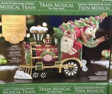 Santa's Christmas Express Musical Train Clay Work  Pottery by Heather Goldmint
