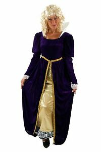 Costume Queen Snow White Princess Cinderella Queen Court Lady Noble Size 44