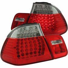 FOR 1999-2001 BMW 3 SERIES E46 SEDAN LED TAIL LIGHTS RED CLEAR 4PCS PAIR LH+RH