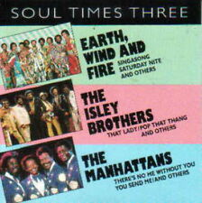 Soul Times Three (CD, 1993) Earth Wind & Fire, Isley Brothers, Manhattans NEW