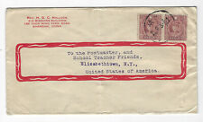 CHINA JAPAN OCCUPATION COVER USED POSTED TO UNITED STATES #2