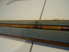 Cane vintage 4 piece game fishing rod with unusual holder push in grooves