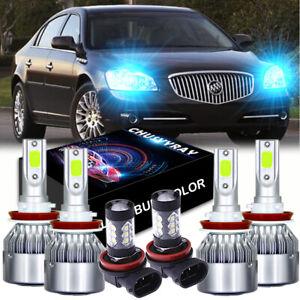 For Buick LaCrosse 2005-2013 Combo LED Headlight High Low Fog Light Bulbs Kit 6x