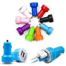 Wholesale 100x Dual 2 Port USB Car Charger Adapter for iPhone iPad Samsung HTC