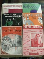 Lot of Vintage Sheet Music from 1920s, 30s, 40s  piano, vocal, guitar