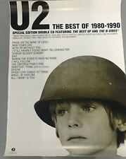 U2 ORIGINAL PROMOTIONAL RECORD SHOP POSTER THE BEST OF 1980-1990