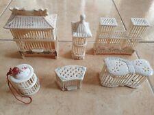 6 Chinesische Grillen Käfige (aus Knochen)