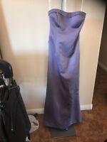 Davids Bridal Purple Wedding Bridesmaid Dress Size 8
