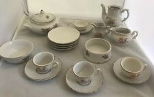 Vintage Children's Doll's China Tea Party Set 19 pieces Insects Photos