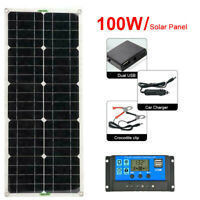 100W Solarpanel Solarmodul USB-Ladegerät Solarzelle 12V Solar Photovoltaikmodul