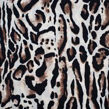 """1 Mètres Snow Leopard Imprimé Animal Velboa Velours Tissu en fourrure synthétique Gaufré Large 60/"""""""