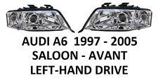 AUDI A6 C5 FRONT HEADLAMPS HEAD LAMP HEADLIGHT H1 H7 PAIR SALOON AVANT 1997-2005