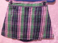 OshKosh B'gosh Green Navy Blue Plaid Pleat Skirt w/Panty Diaper Cover, 24 mos.