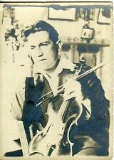 Photo portrait musicien inspiré violoniste violon alto circa 1930