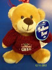 Grad Bear Balloon Bouquet Graduation Party Gift Stuffed Animal Teddy - Maroon